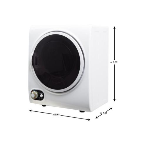 Electric Dryer Compact 1.5 cu. ft. White Small Space Solution
