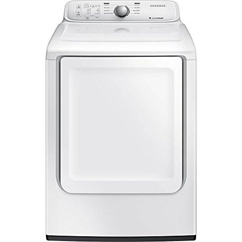 white front load gas dryer
