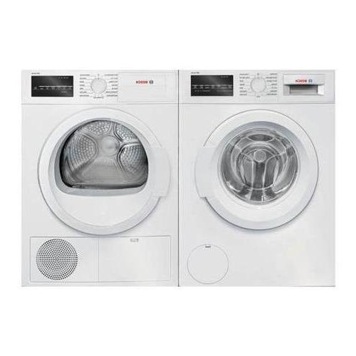 White Front Load Laundry Pair Washer Electric