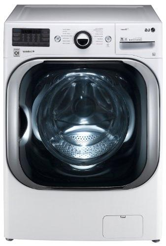 LG White Cu Ft Load Washer and 9.0 Ft Steam set