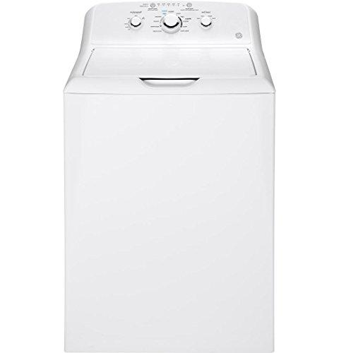 """GE White Pair with GTW330ASKWW 27"""" Dryer"""