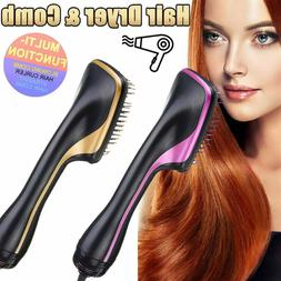 Large paddle Ionic Hair Blow Dryer Brush Hot Air Hair Curls