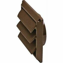 "Lambro 2677B 4"" Brown Plastic Replacement Louver Dryer Vent"