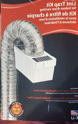 LTF Dryer Vent Lint Trap Kit Indoor Use Bucket & Water Defle