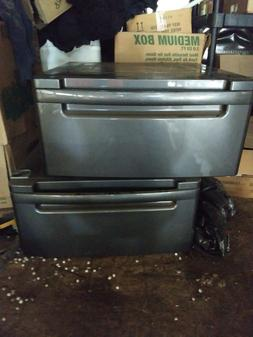 Never Used LG 27'' Grey Washer and Dryer Pedestal bins