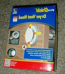 """NEW Pro Shield 4"""" DRYER VENT HOOD in Box with Aluminum Pipe"""
