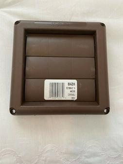 New Deflecto Louvered Dryer Vent Hood Cover Brown HS4B 4 inc