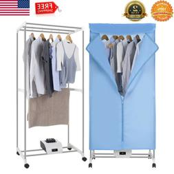 Portable 1000W Heater Laundry Clothes Dryer Wardrobe Drying