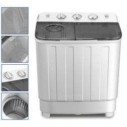 portable 17lbs mini washing machine twin tub