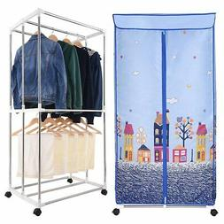 electric clothes dryer portable wardrobe drying rack