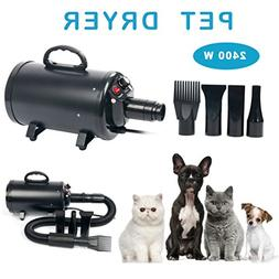 YaeCCC Portable Dog Cat Pet Grooming Dryer 2400w Salon Blow