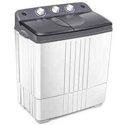COSTWAY Twin Tub Washing Machine Electric Compact Portable D