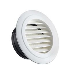 HG POWER 4 Inch Round Air Vent ABS Louver Grille Cover White