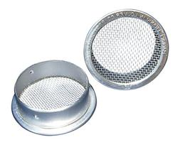 """6"""" Round Open Screen Vent - Mill - Pkg of 2"""