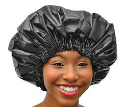 Shower Cap - Extra Large Adjustable Satin Lined WaterProof S