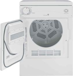 """GE Space Saving 24"""" Front Load 3.6 Stackable Electric Dryer"""