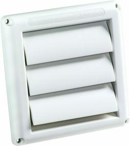 Supurr Vent Louvered Dryer Vent Cover White Plastic Outdoor