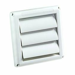 Deflecto Supurr-Vent Louvered Outdoor Dryer Vent Cover, 4 In