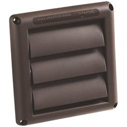 Deflecto 4 Inch Louvered Dryer Vent Cover Brown HS4B NEW