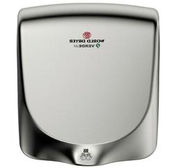 World Dryer VERDEdri Hand Dryer, Q-973A, Brushed Stainless S
