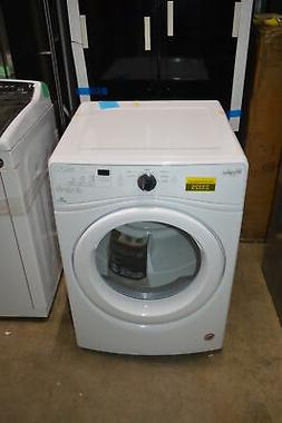 """Whirlpool WGD75HEFW 27"""" White 7.4 Cu.Ft Front-Load Gas Dryer"""