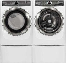 """Electrolux White Front Load Laundry Pair with EFLS527UIW 27"""""""