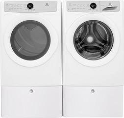 """Electrolux White Front Load Laundry Pair with EFLW317TIW 27"""""""