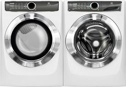 Electrolux White Front Load Laundry Pair with EFLS617SIW 27""