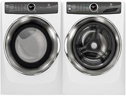 Electrolux White Front Load Laundry Pair with EFLS527UIW 27""