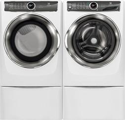 Electrolux White Front Load Laundry Pair with EFLS627UIW 27""