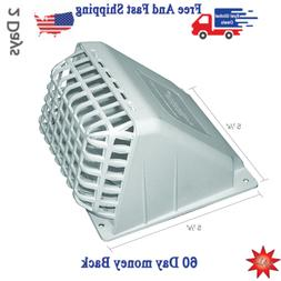 Wide Mouth Dryer Vent Hood With  bird Guard 4 Inches White P