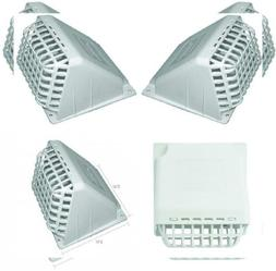 Deflecto Wide Mouth Dryer Vent Hood with Removable Bird Guar