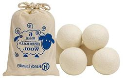 Wool Dryer Balls - Natural Fabric Softener, Reusable, Reduce
