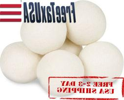 Wool Dryer Balls By Smart Sheep 6-Pack, Reusable Natural Fab