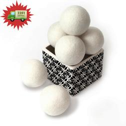 Wool Dryer Balls by Smart Sheep 6-Pack, XL Premium Reusable